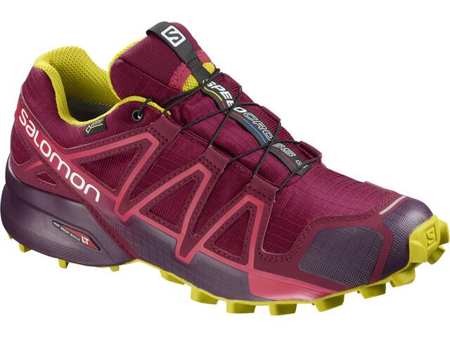 Salomon Speedcross 4 GTX Shoes Dame beet red/potent purple/citronelle